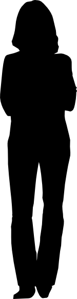 150x584 Person Outline Clip Art