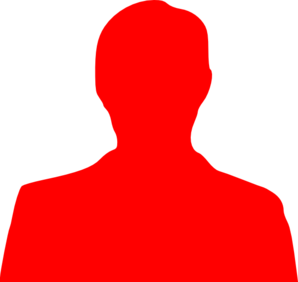 298x282 Red Person Outline Clip Art