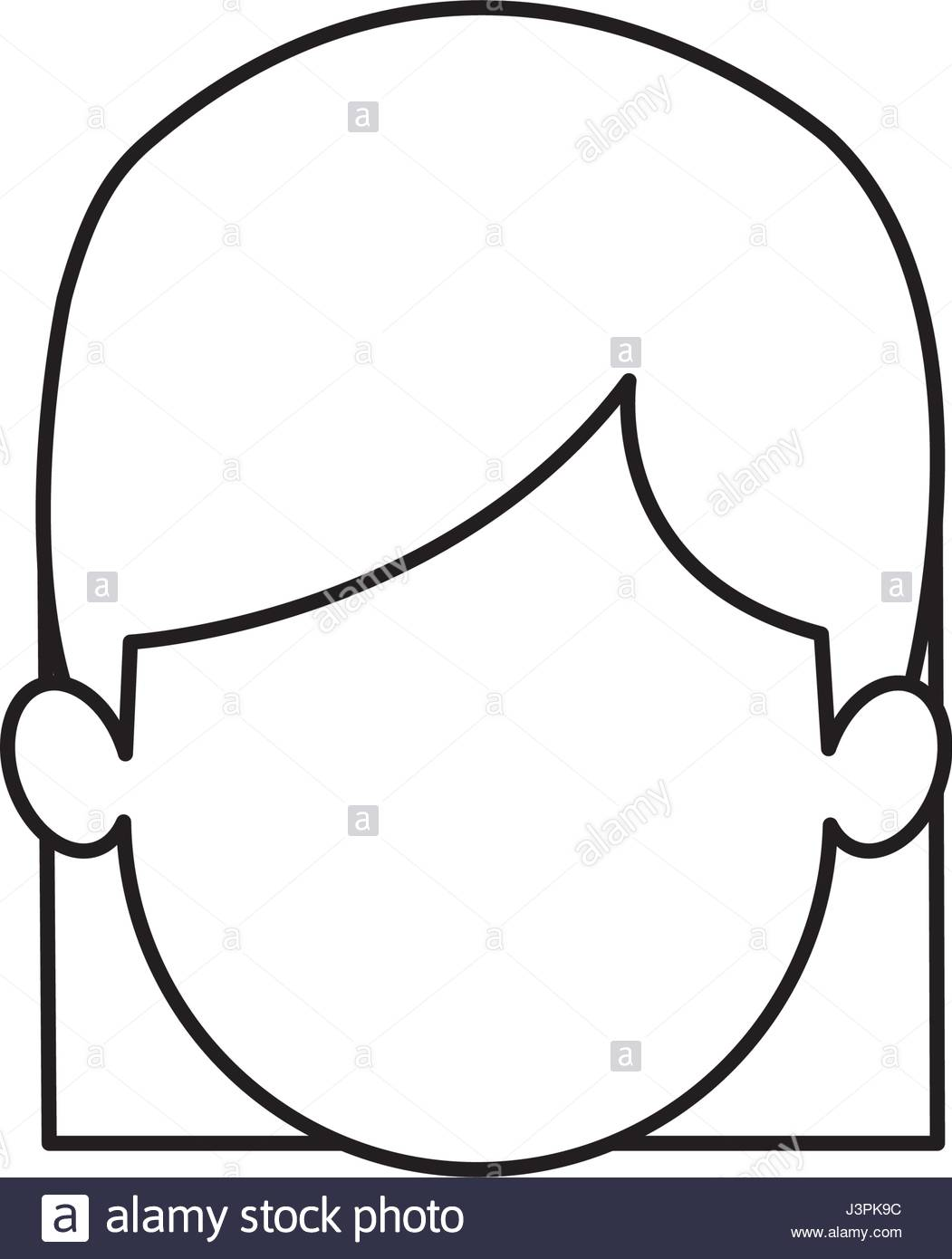 1051x1390 Outline Head Girl Character Person Stock Vector Art Amp Illustration