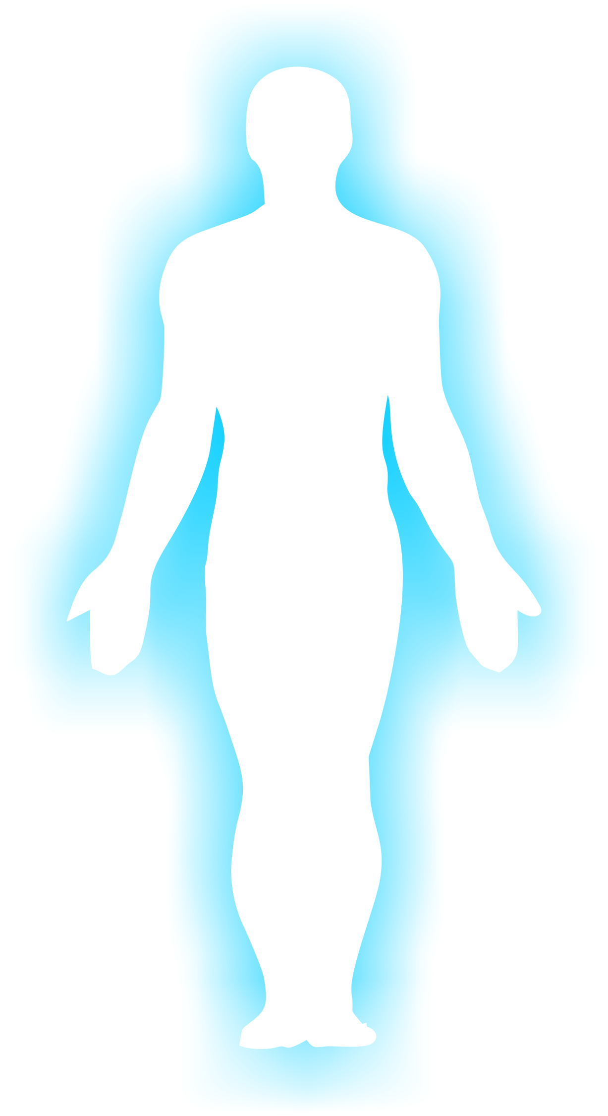 1227x2250 Free Clipart Human Outline