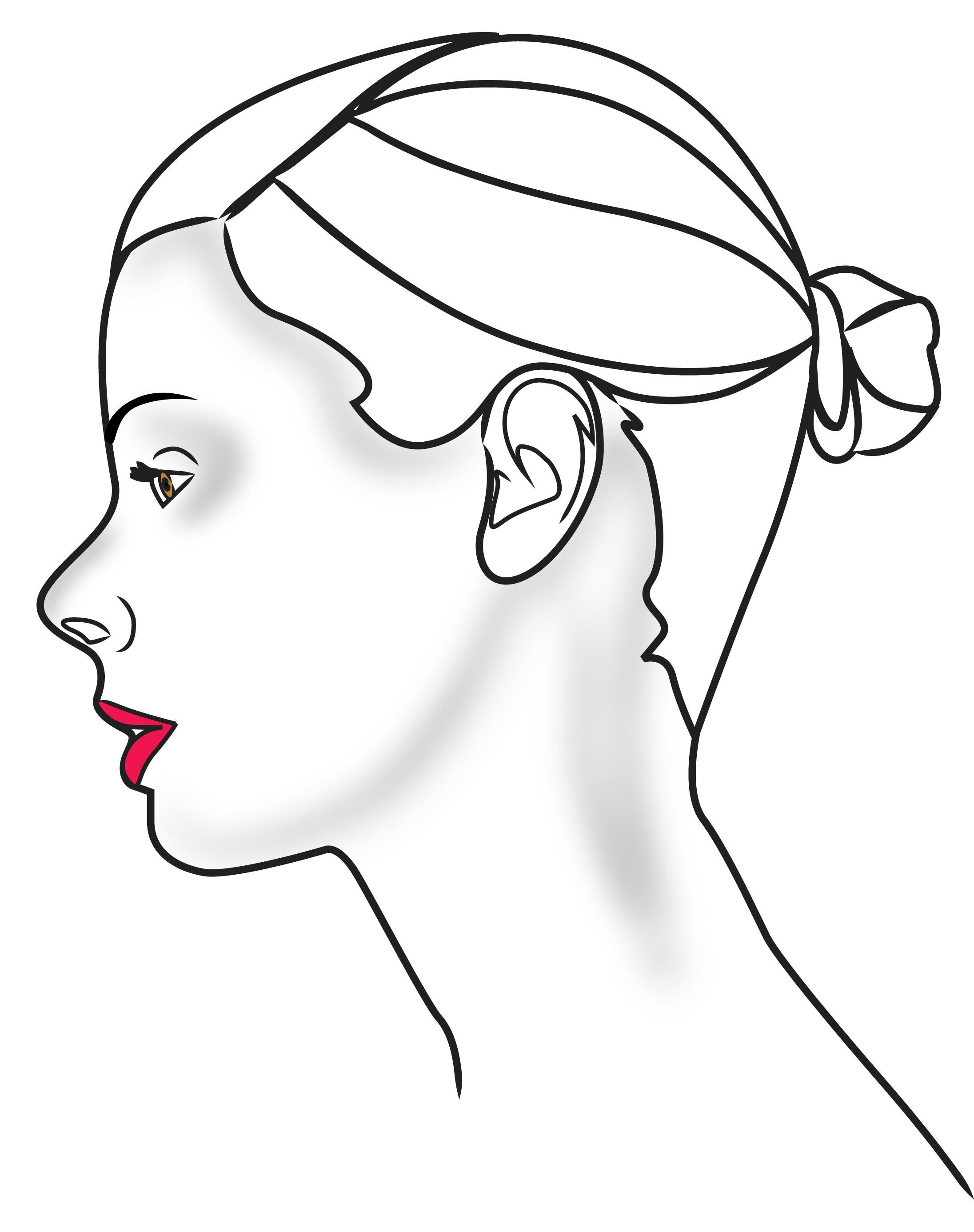 2192x2772 Human Face Outline Clip Art