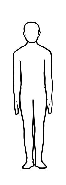 210x589 Human Outline Clipart
