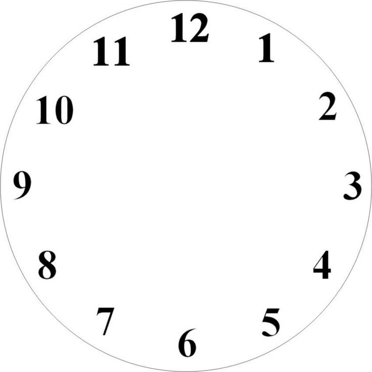 736x736 Printable Clock Face. Clock Face Template With Hour Minute