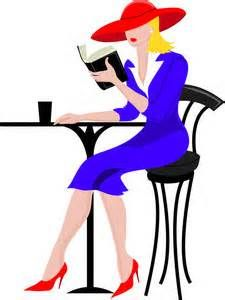 Person Reading A Book Clipart