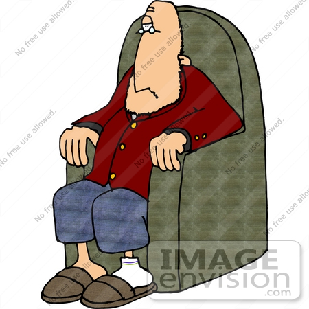 450x450 Caucasian Man Sitting In A Chair Clipart