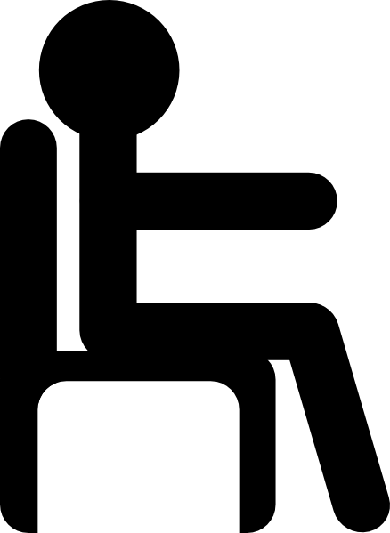 438x599 Man In Chair Clip Art