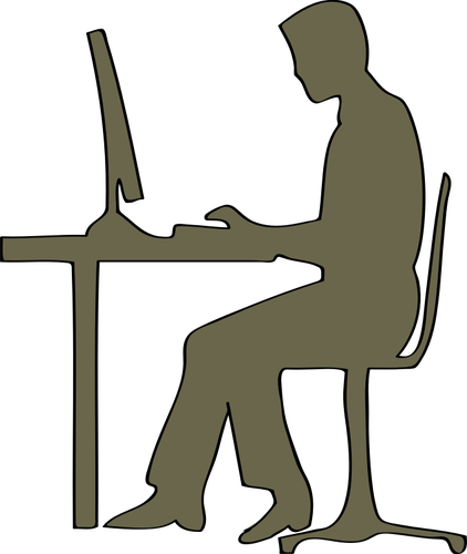 422x500 Silhouette Of Man Sitting