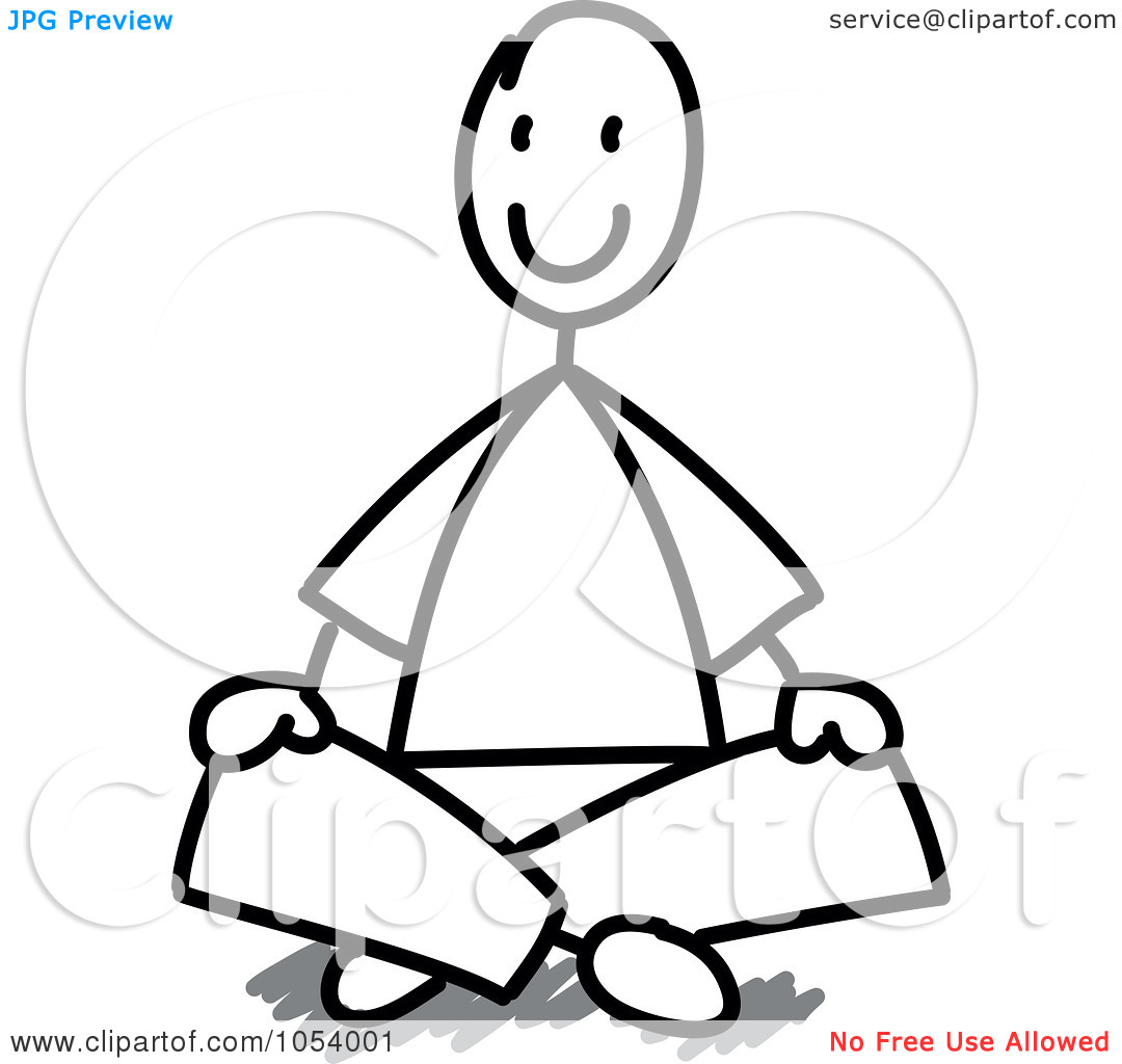 1080x1024 Sitting Cross Legged Clipart