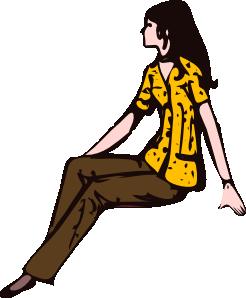 246x298 Sitting Girl Clip Art