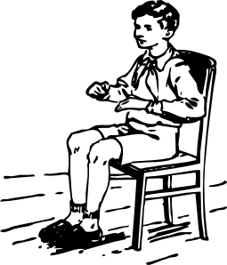 255x298 Boy Sitting In Chair Clip Art