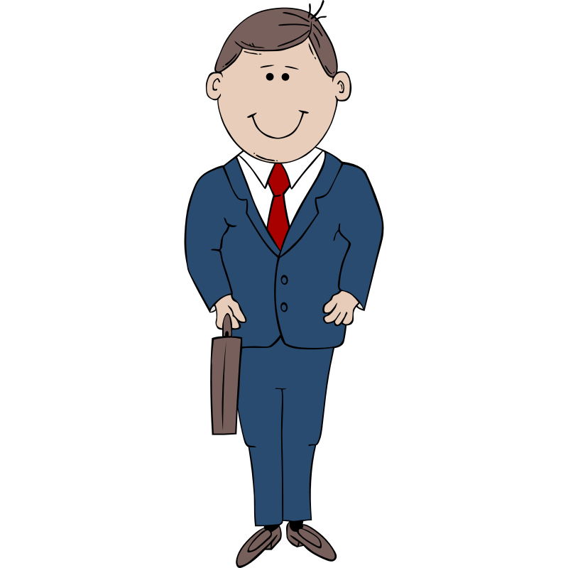 800x800 Man Clipart Suit Cartoon