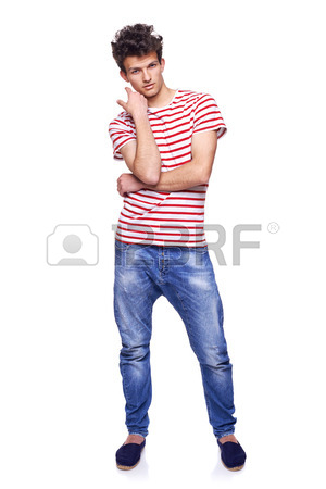 300x450 Full Body Of A Fashion Man With Modern Haircut Posing Standing