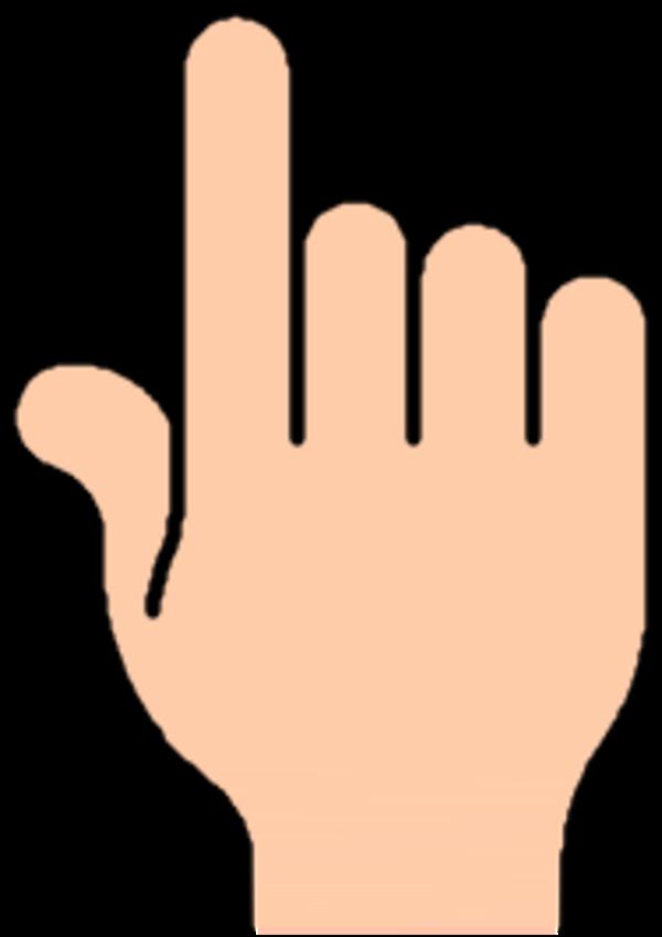 600x849 Hand Clipart Sideways