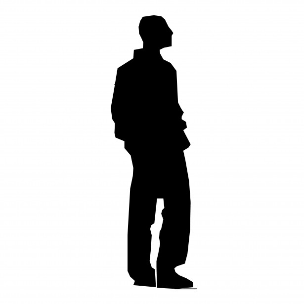 615x615 Person Standing Sideways Clipart