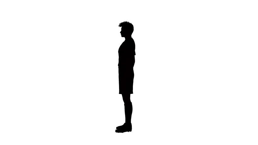 852x480 Silhouette Of Man Walking Stock Footage Video 3004966 Shutterstock