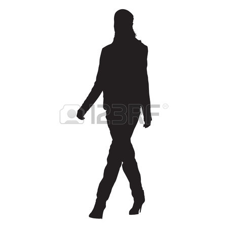 450x450 Young Woman Standing Sideways In Heel Shoes, Sexy Slim Lady