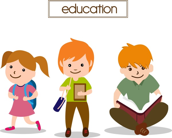 600x480 Kids Studying Free Vector Download (1,413 Free Vector)