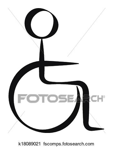 362x470 Clipart Of Disabled Person Symbol K18089021