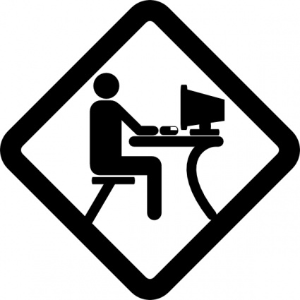 425x425 Computer User Person Desktop Party Lab Pictogram Lan Vector, Free