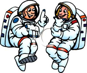 300x254 Art Image Two Astronauts Talking