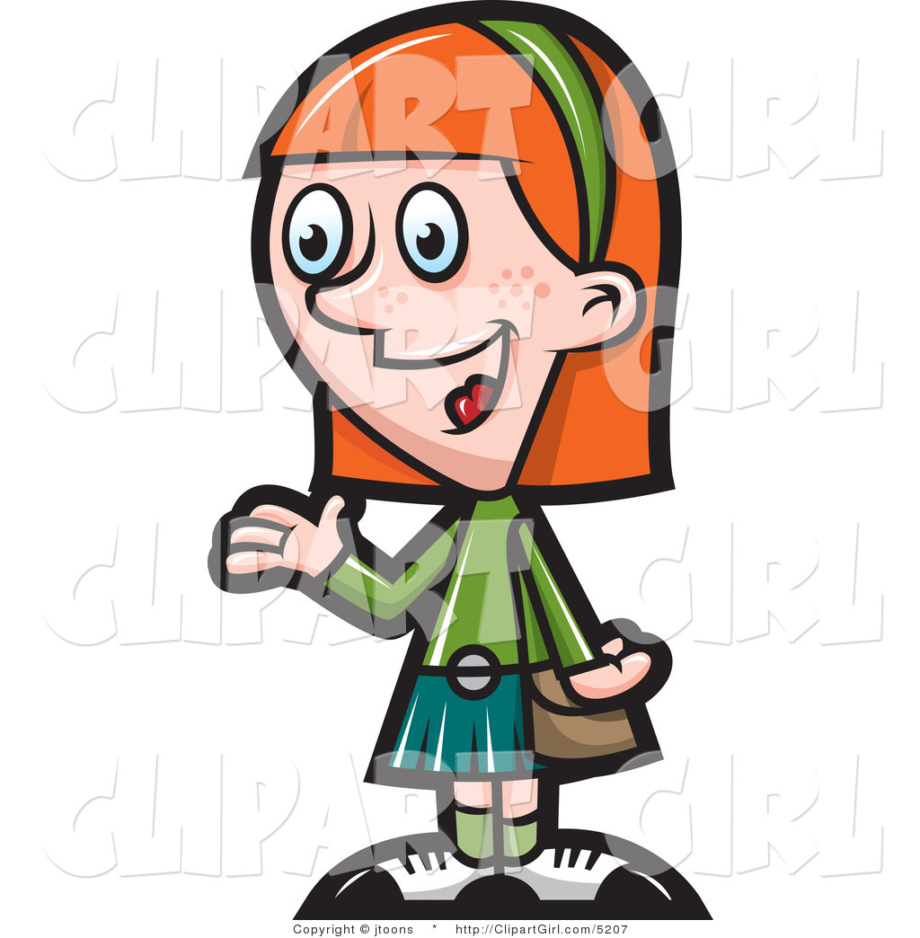 1024x1044 Vector Clip Art Of A Talking Red Haired Girl