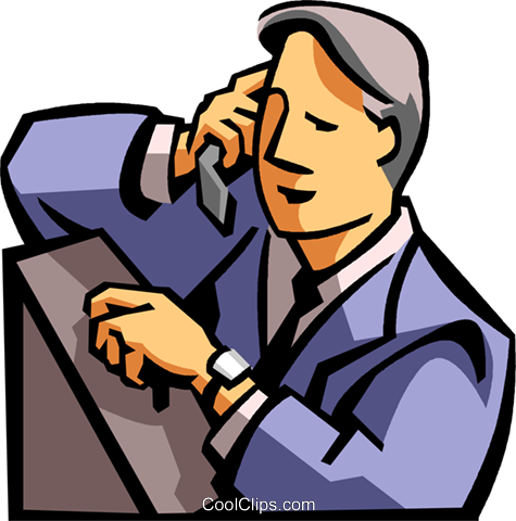 475x480 Man Talking On A Cell Phone Royalty Free Vector Clip Art