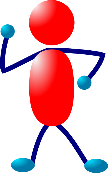 372x598 Active Man Clip Art