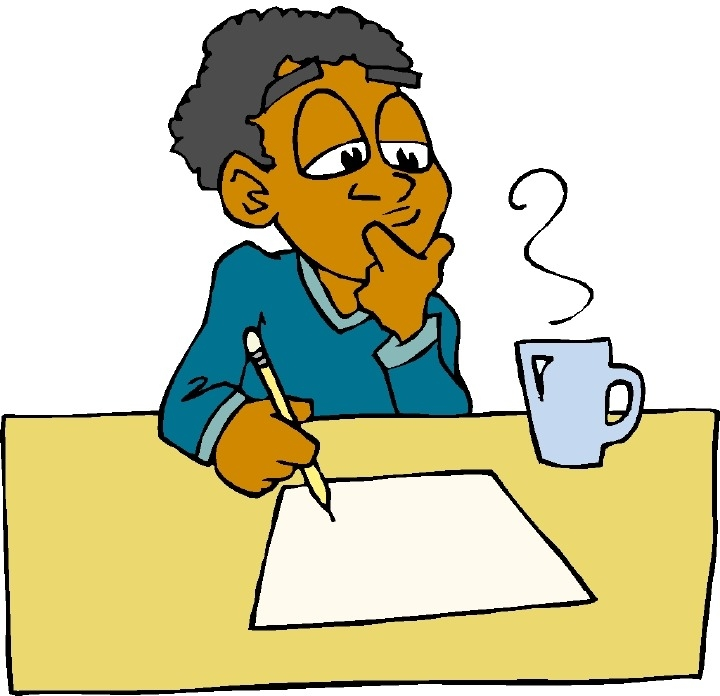 720x696 Thinking And Writing Clipart