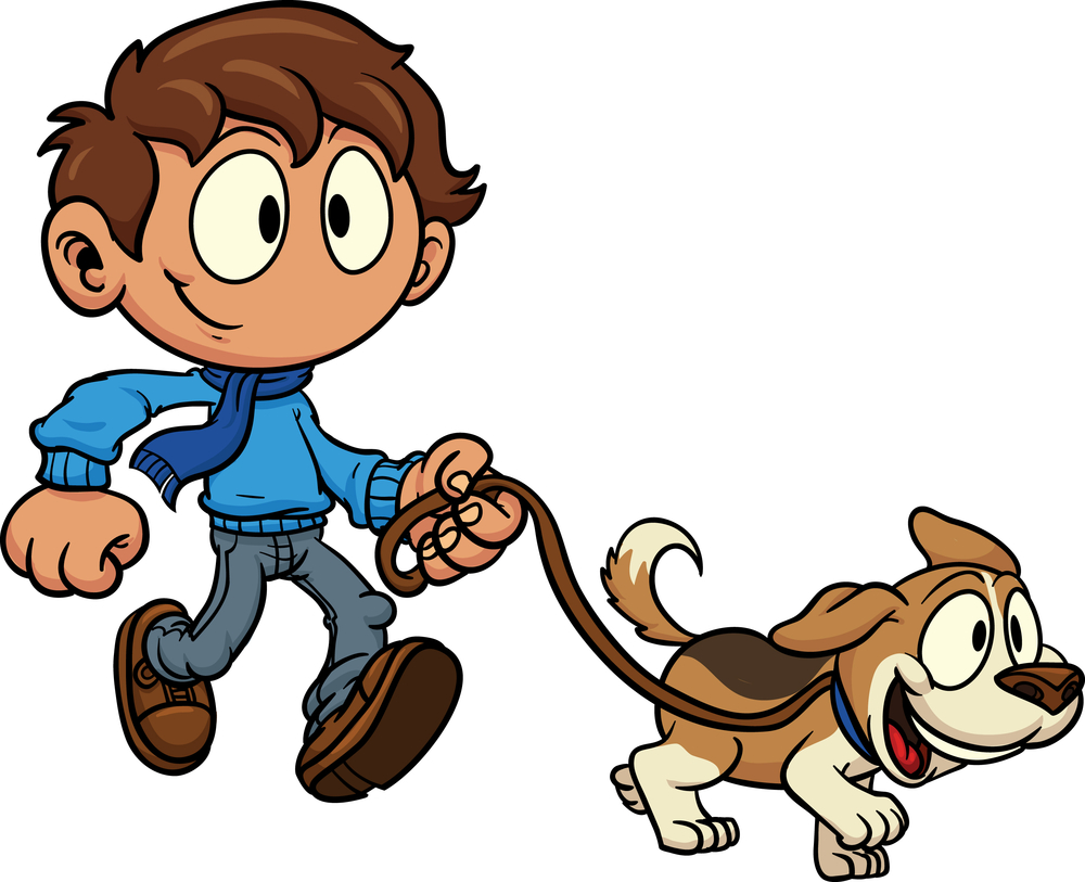 1000x813 People Clipart Walking Dog