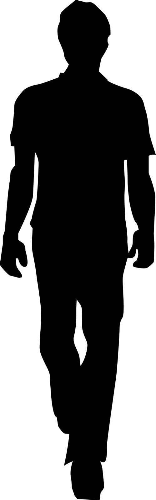 499x1600 Person Walking Clipart