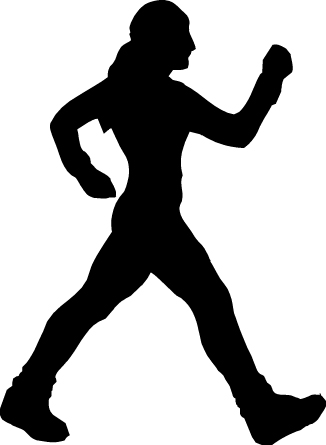 326x445 Person Walking Clipart