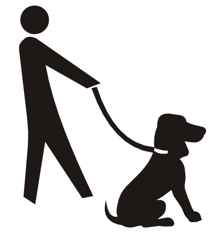 432x474 Person Walking Dog Clipart