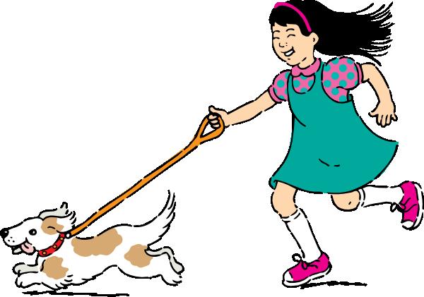 600x421 Walking Dog Clip Art