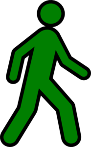 186x299 Walking Man Yellow Clip Art