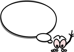 300x210 Speech Bubble With Person Pointing Up Clip Art