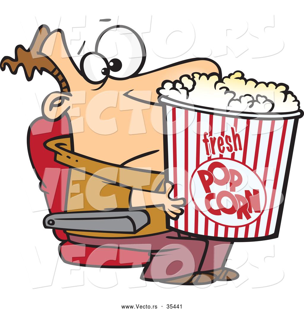 1024x1044 Popcorn Clipart Man