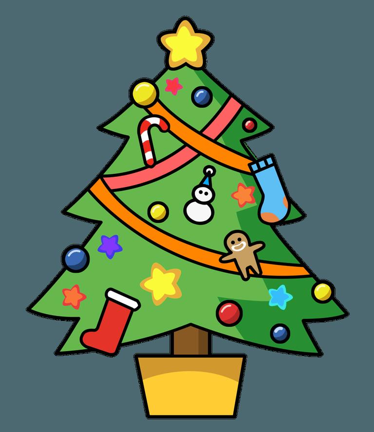 768x887 Christmas Tree Clip Art Free