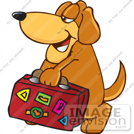 450x450 Clip Art Graphic Of A Cute Brown Hound Dog Cartoon Character