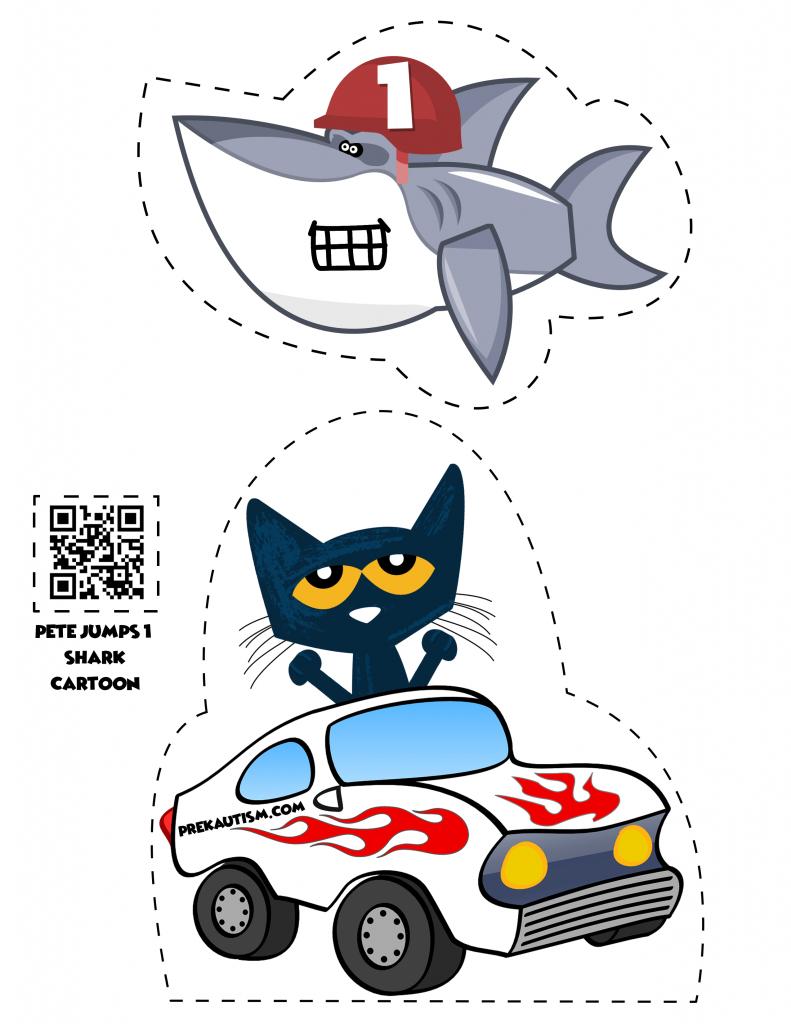 791x1024 Pete The Cat Jumps 1 Shark Cartoon