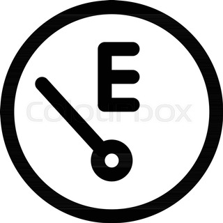 320x320 Fuel Guage (Vector Image Fully Resizable And Editable) Stock