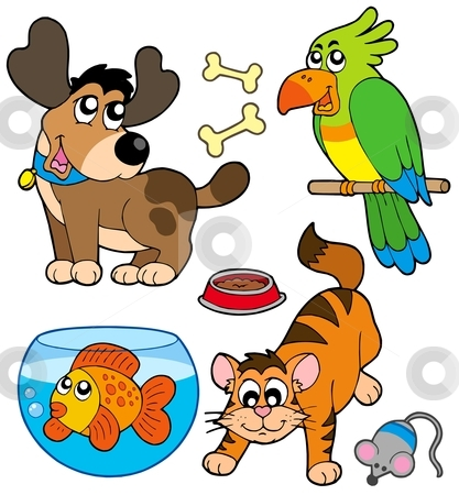 417x450 Pets Clipart Cartoon