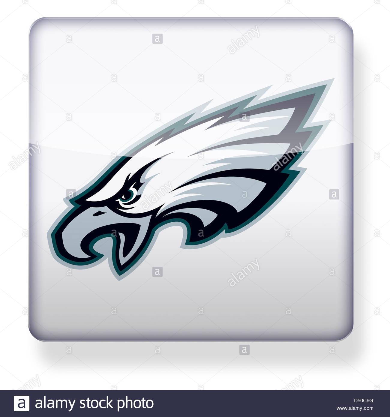 1300x1390 Philadelphia Eagles Logo Icon Stock Photo, Royalty Free Image