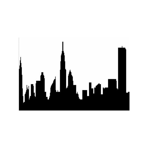 Philadelphia Skyline Outline