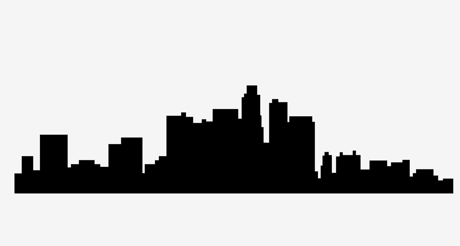 1600x855 Cityscape Clipart La Skyline