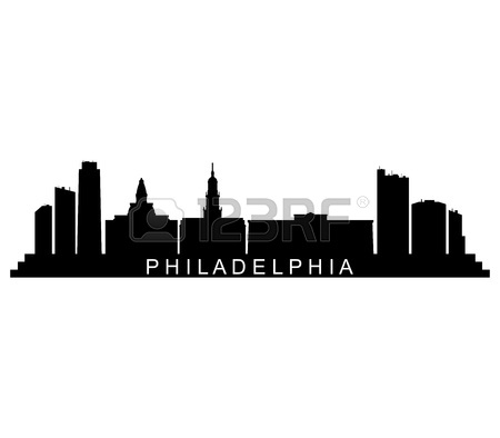 450x394 196 Philadelphia City Skyline Stock Vector Illustration