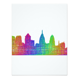 324x324 Philadelphia Skyline Invitations Amp Announcements Zazzle