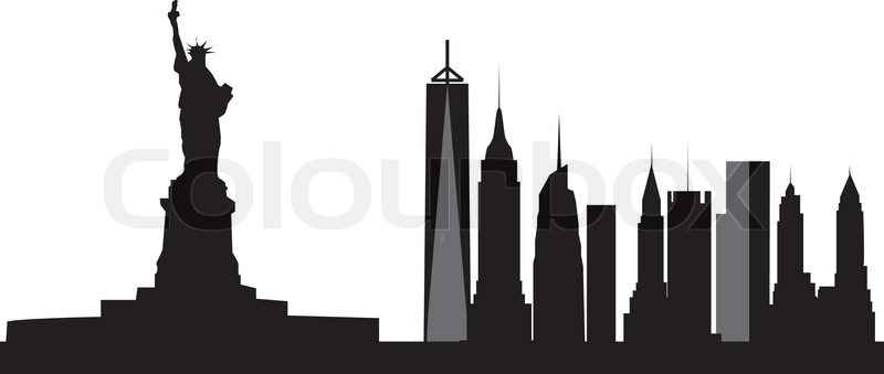 800x339 Philadelphia Skyline Stock Vector Colourbox