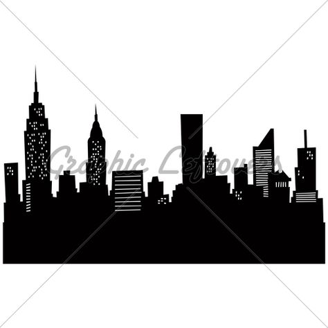 474x474 Nyc Skyline Outline New York City Skyline Silhouette Vinyl Wall