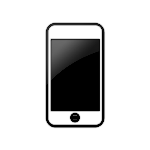 512x512 Iphone Black And White Clipart