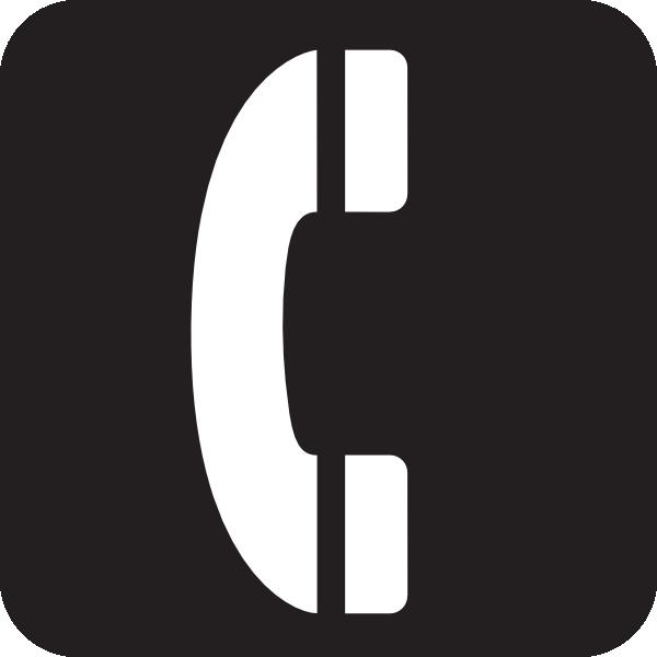 600x600 Telephone Black Clip Art